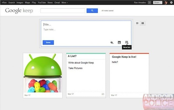 Google Keep briefly teases note-taking utility for Drive, vanishes soon after