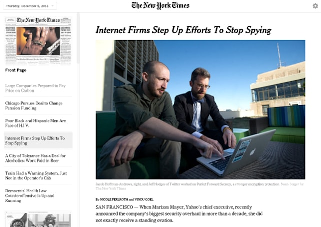 New York Times' Today's Paper web app brings print-like design, offline reading to browsers