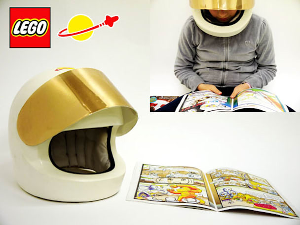 Lego-inspired helmet concept protects your brain, reads comics so you don't have to