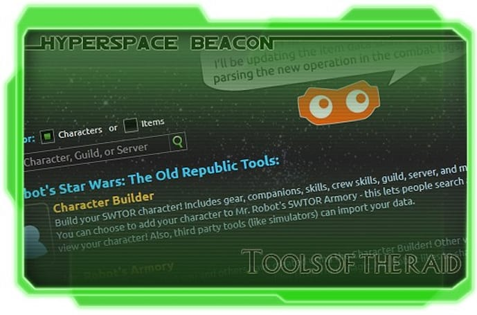 Hyperspace Beacon: SWTOR's tools of the raid