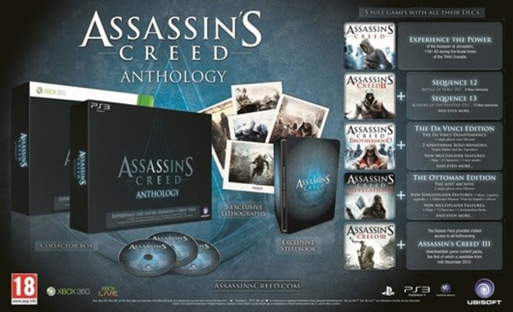 Assassin's Creed Anthology detailed in trailer, still EMEA only