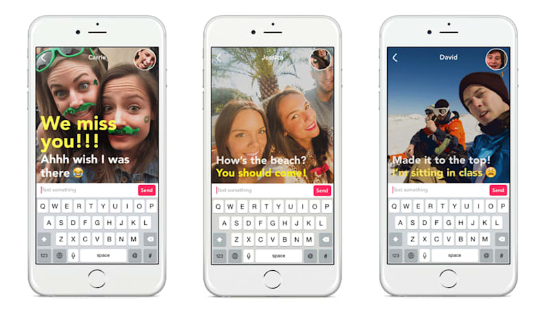 Yahoo's Livetext is a messaging app for the Snapchat generation
