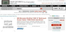 MSI WindPad 110w listed for $599 pre-order, is brown
