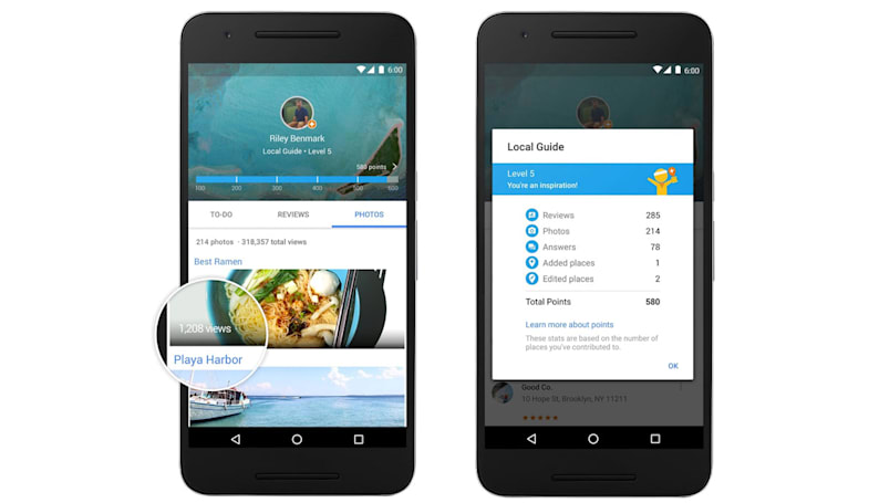 Google rewards restaurant reviewers with 1TB storage