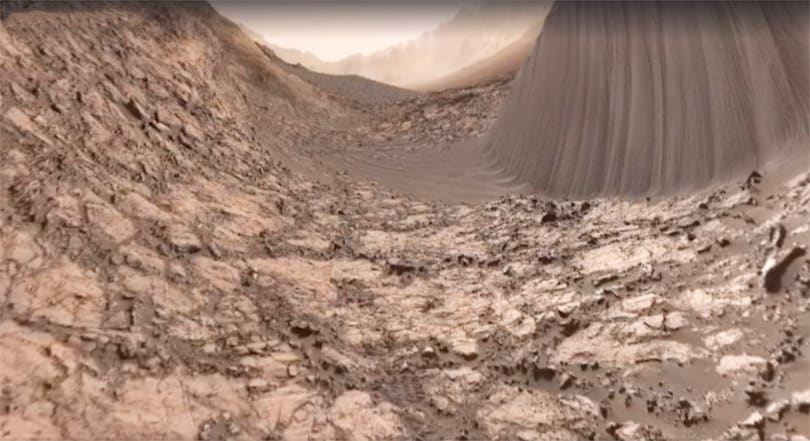 Mars Curiosity rover gets into VR with a Facebook 360 video