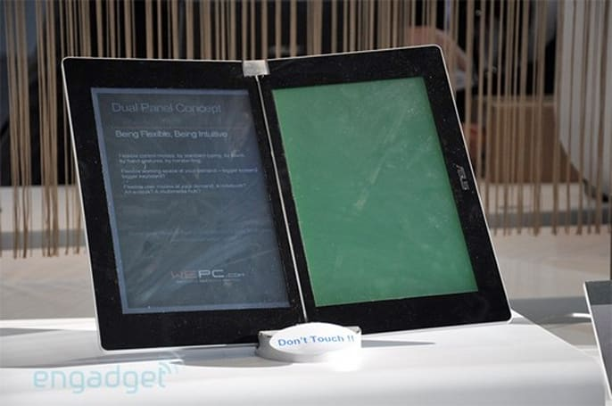 ASUS planning dual screen Eee Reader: world's cheapest e-book reader