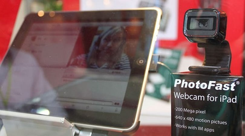 PhotoFast makes iPad work with a Microsoft webcam, cats and dogs live together