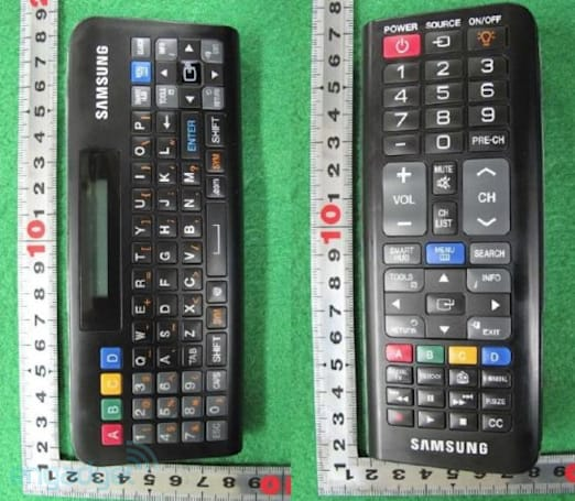 Samsung's new dual-sided QWERTY remote for Smart TVs revealed by the FCC