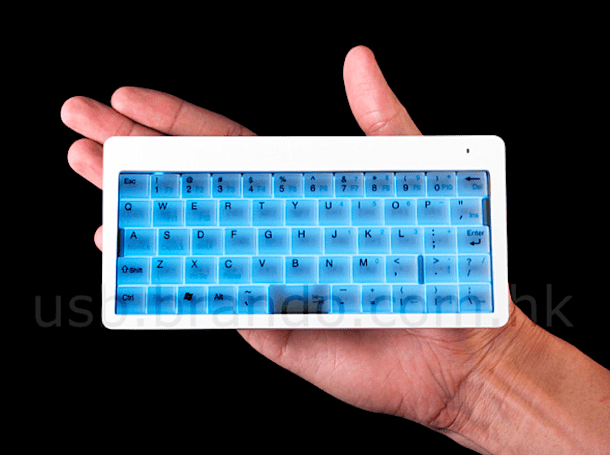 Brando's latest mini-keyboard: blue backlight, impossible to type on