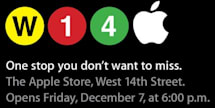 Apple Store 14th Street opening time confirmed