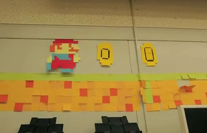 Post-It Notes deliver paper Mario stop-motion escapade
