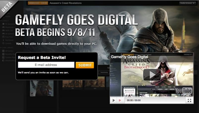 GameFly to launch 'Unlimited PC Play' download service, offer less incentive to leave the house