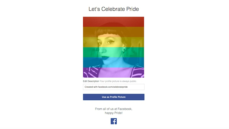 Facebook lets users 'celebrate pride' with rainbow filter