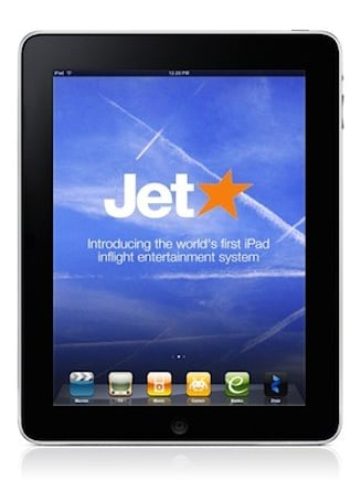 In-flight iPads for under $10 on Australian low-cost airline