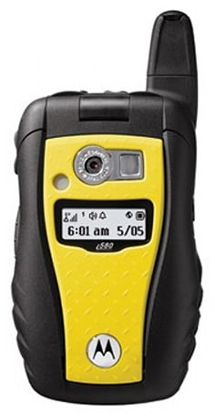 Motorola's rugged i580 gets fittingly doused in yellow for Sprint