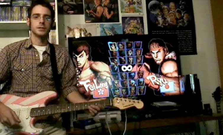 Terrible idea: play Street Fighter IV with a guitar