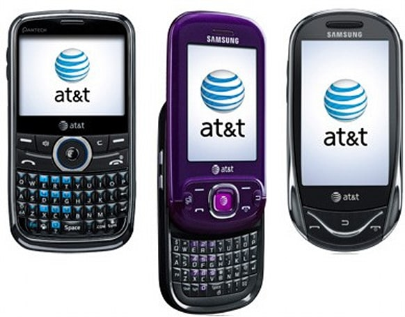 AT&T posts four new featurephones from Samsung and Pantech