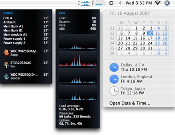 iStat menus v1.1 preview screenshot and details