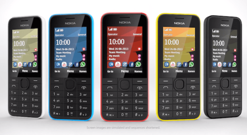 Nokia announces the 207 and 208: 3G data and month-long standby for $68