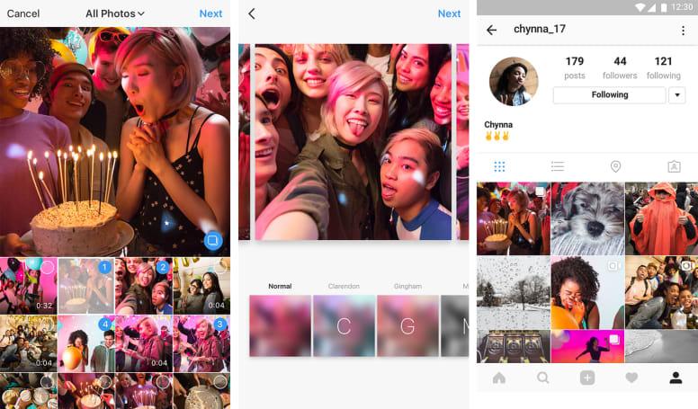 Instagram 大更新,让你一次上载多个内容