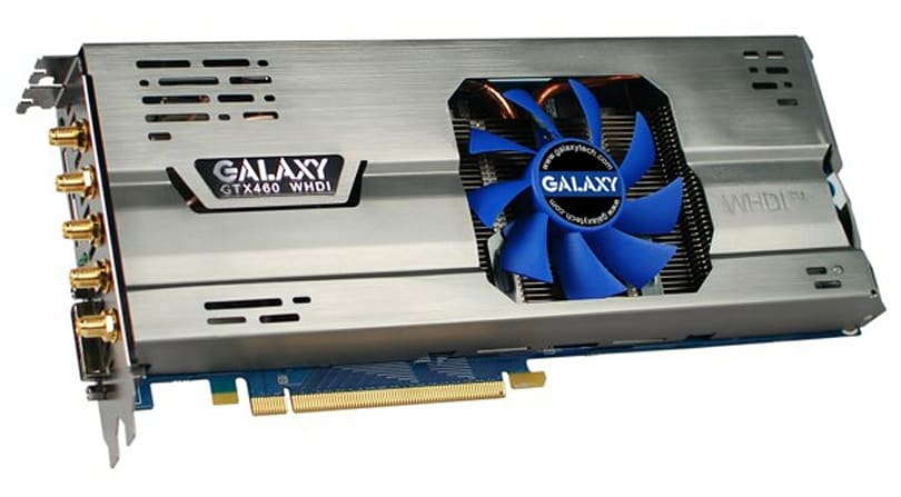 Upcoming Galaxy GeForce GTX 460 card to support WHDI streaming courtesy of Amimon