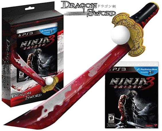 Retailer lists Ninja Gaiden 3 special edition with bloody sword Move accessory [update: it's real, kind of]