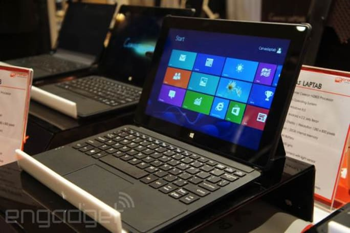 Here's a closer look at that dual-boot Android/Windows 8.1 tablet