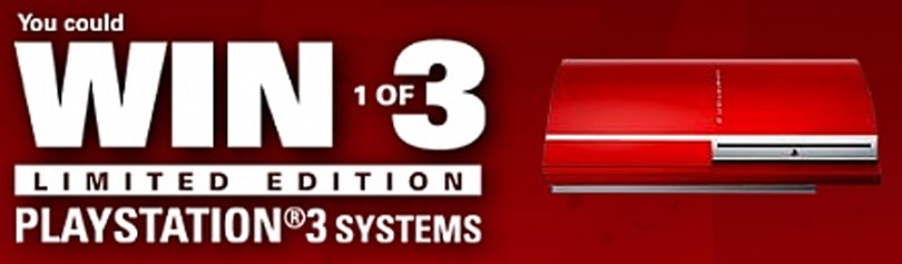 Sony giving away three red PS3s to those blasted Canadians