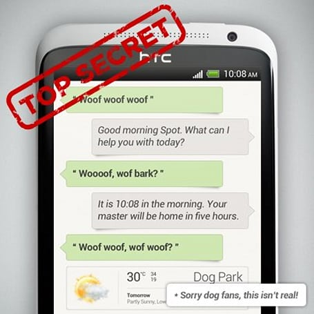 HTC teases voice control and/or dog translator for Sense