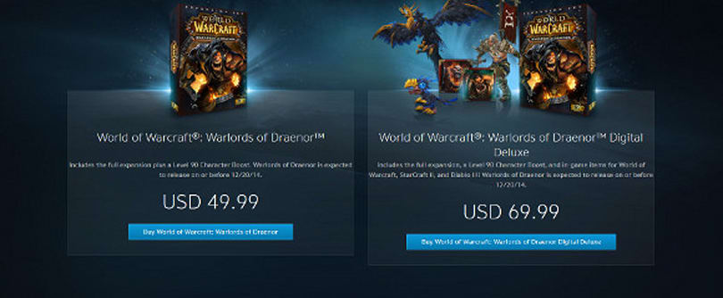 Warlords of Draenor pre-order available on Battle.net