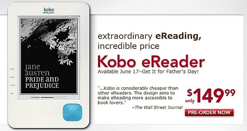 Borders' Kobo eReader available for pre-order, ships June 17th
