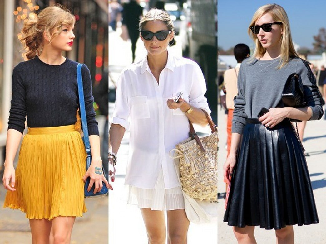 10 new ways to wear a pleated skirt