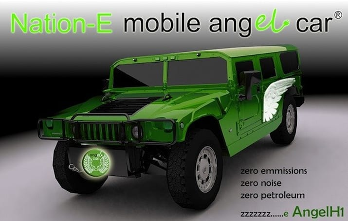 Nation-E's electric Hummer H1 can power itself and others
