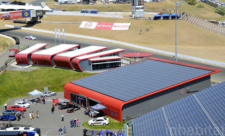 California raceway gets 1,600 solar panels, flaunts green track status
