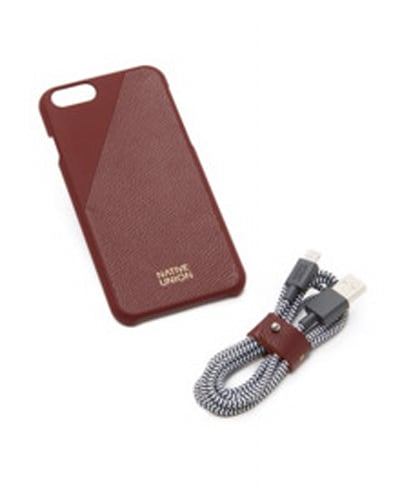 Native Union leather edition IPhone case and cord set