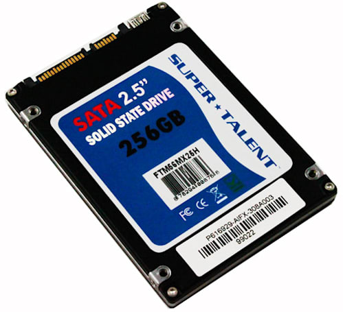 Super Talent's dual interface UltraDrive MX SSD does SATA II and mini-USB