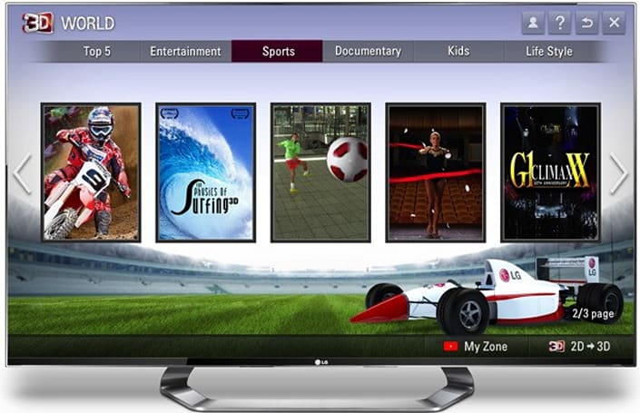 LG opens up 3D World video store for 2011, 2012 Cinema 3D Smart TVs