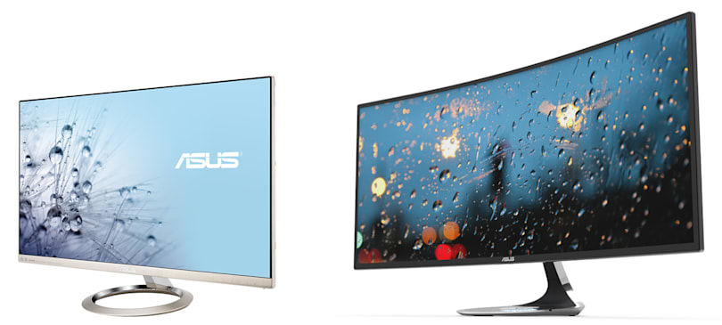 ASUS offers yet another curved monitor plus a 4K display