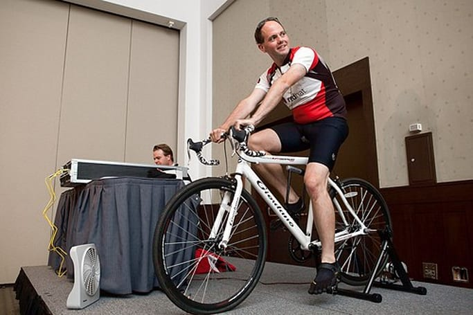 ARM server running on pedal power demoed at Red Hat Summit