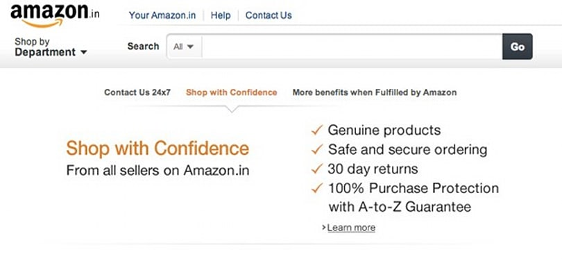 Amazon India open for business, offering mostly entertainment