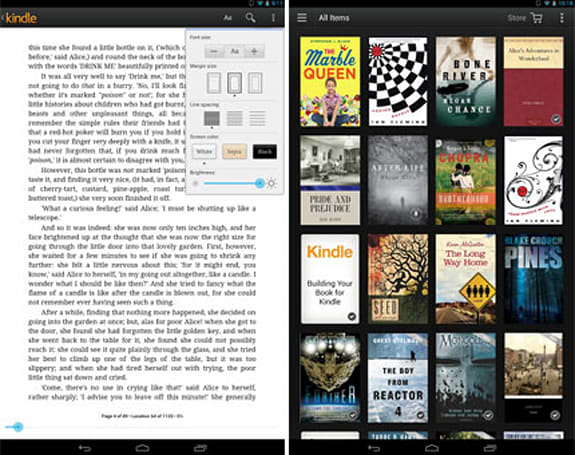 Kindle for Android app updated with library sorting, keeps a watchful eye on remaining read time