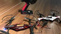 動画:超低空の戦い、京商 Drone Racerを試す。スイマセン、ドローンレースする前に上達が必要でした
