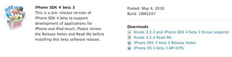 iPhone OS 4.0 beta 3 is ready for your scrutiny (update: it's back!)