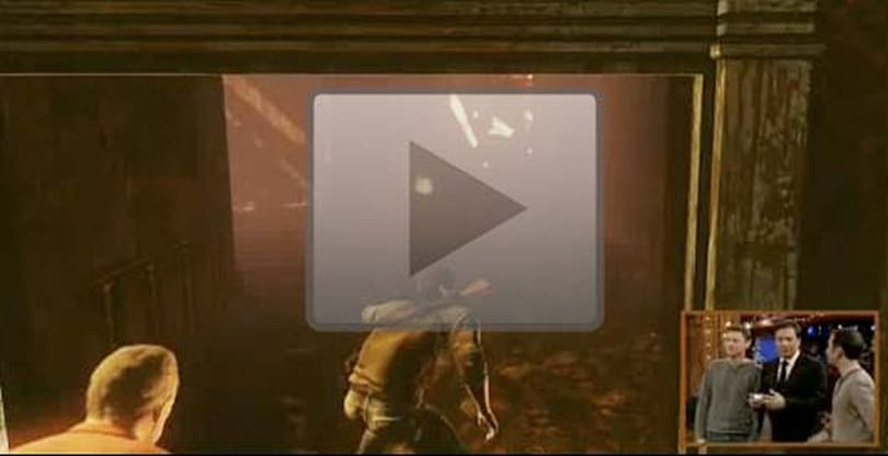 Uncharted 3: Drake's Deception gameplay debuted on Jimmy Fallon