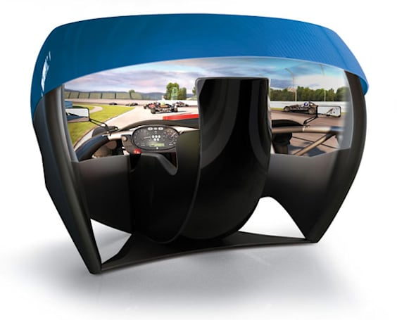 Ariel Atom-inspired simulator touts world's first 180-degree spherical projector screen (video)