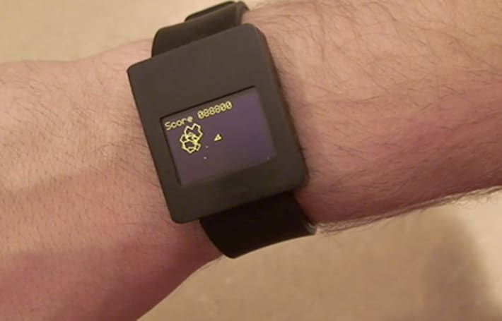 Asteroids wristwatch one-ups the Pong-playing original