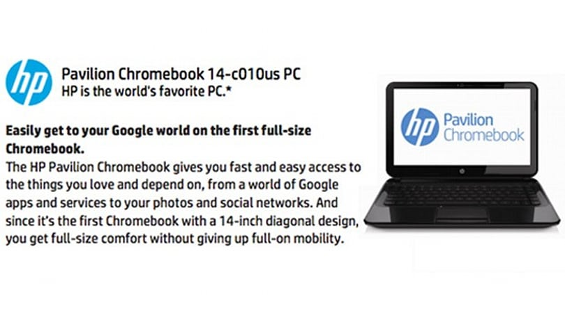 HP web store leaks 14-inch Chromebook Pavilion, to be unveiled on February 17
