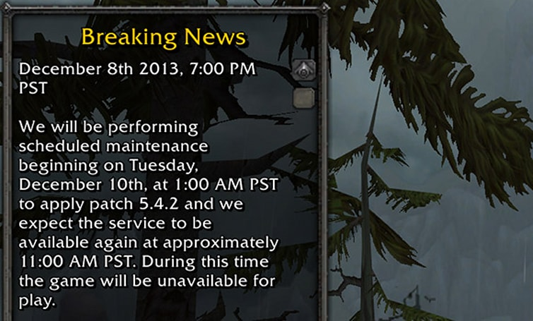 Patch 5.4.2 hits live realms this week