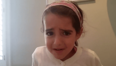 Little Girl Does Eyebrow Wave