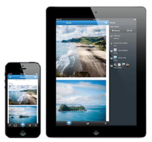 Website building portal Jimdo creates websites using just an iPhone/iPad